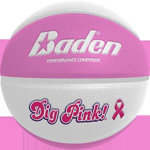 Ballon basketball féminin Dig Pink